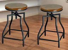 Solid Wood Rustic/Primitive Bar Stools | eBay