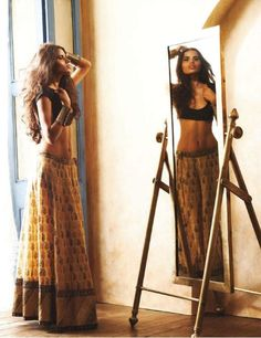 ♥ smart idear: crop tops with indian lehenga cholis.