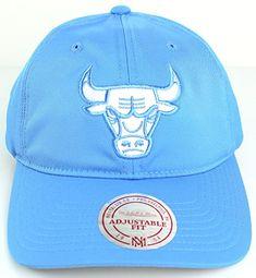 pretty nice 3a0c0 e8a7b Mitchell   Ness NBA Powder Soft Span Dad Hat Blue (Adjustable, Chicago Bulls )