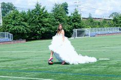 Soccer wedding #wedding #soccer #soccerwedding #bride #soccerfield