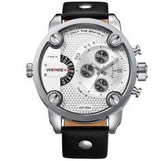 Weide Dual Time Zone Oversize Wristwatch