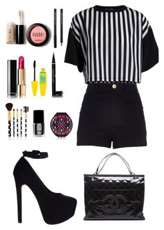 """MC"" by victoria-freitas-tomlinson ❤ liked on Polyvore featuring Pieces, River Island, ASOS, Forever 21, Chanel, Maybelline, women's clothing, women's fashion, women and female"