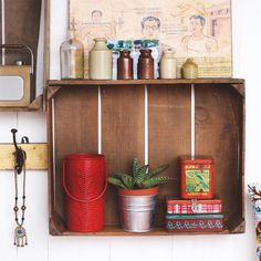 Nothing makes seasonal decorating easier than vintage wooden crates. In fact, decorating in general is easy with vintage crates. They make excellent storage, Vintage Wooden Crates, Vibrant Colors, Colours, Shabby Chic Style, Uk Fashion, Seasonal Decor, Indoor, Blog, Furniture