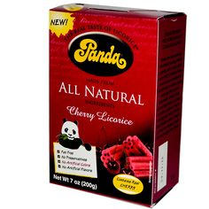 Panda Licorice All Natural Cherry Licorice.These are sooo good :)