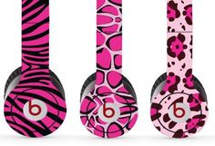 Wild Pink Animal Skins Set of 3 for Solo / Solo Hd Beats By Dr. Dre - (Headsets Not Included) $1 Shipping!:Amazon:Everything Else