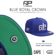 6e0d4ba636e Blue Royal Crown - Not Profane Snapback Cap — No Parade