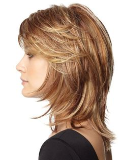 Cortes de cabello Medium Shaggy Haircuts, Choppy Hairstyles, Straight Haircuts, Trendy Hairstyles, Layered Hairstyles, Short Hairstyles For Women, Black Hairstyles, Strawberry Blonde, Blonde Highlights