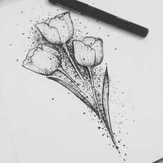 Resultado de imagen para tatuajes de tulipanes