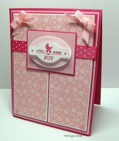 Baby Doll using Stampin Up Punches Three retired hostess stamp set plus DSP.