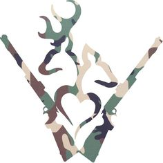 Camo Buck and Doe Heart Decal Browning Style by GreenMountainVinyl, $7.00