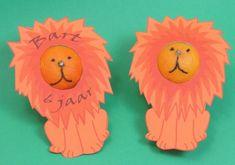 Grrrr....brrrr... een leeuw! oranje leeuwentraktatie met een gezond mandarijntje!