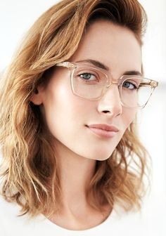 Featuring bold, rectangular proportions with custom hinges and temple wire, Howard is a distinguished unisex choice for all types, from the style conscious to the studious. Glasses Frames Trendy, Glasses For Round Faces, Glasses For Your Face Shape, Cute Glasses, Girls With Glasses, Wearing Glasses, Designer Eyeglasses, Womens Glasses, Cool Eyes