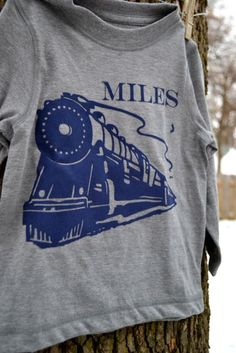 Train toddler shirt: Silhouette project
