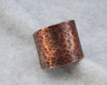 Sale! Copper Cigar Band Ring, Band Ring, Adjustable Ring, Copper Statement Ring, Copper Ring