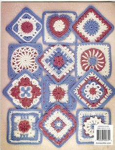 crochet square pattern chart Lots of free patterns all in English
