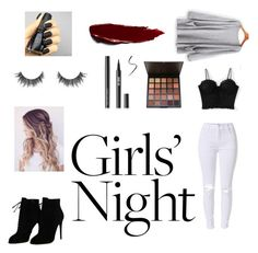 A fashion look from November 2017 featuring sleeve top, lace tank and distressed skinny jeans. Browse and shop related looks. Lace Tank, Distressed Skinny Jeans, Girls Night, Tom Ford, Fashion Looks, Polyvore, Sleeves, Shopping, Image