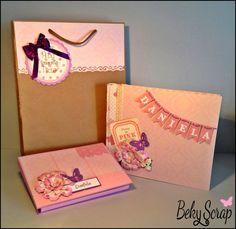 Conjunto álbum clásico 23x19 cm + mini carpeta (cartulina) para entregar fotos sueltas más Cd + bolsa regalo personalizada