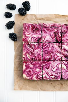 Blackberry Cheesecake Brownies -- I have never seen something so beautiful in my life. The tartness of the blackberries, creaminess of the cheese, and chocolate richness of brownies sounds heavenly..