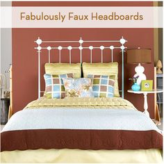 Roundup: 7 Fabulous Faux Headboards Gotta find a good one for new bedroom!