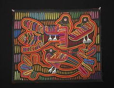 Lot of 5 Panamanian Kuna Textile Molas, ex-Kit Kapp