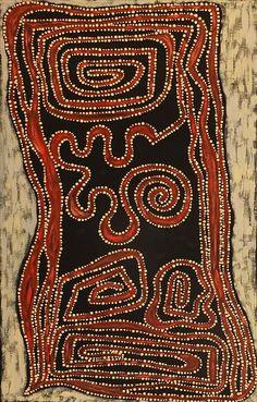Stephanie Napurrurla Nelson ~ Ngapa Jukurrpa (Water Dreaming), Mikanji - aboriginal art