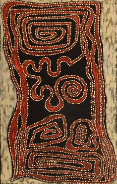 Stephanie Napurrurla Nelson ~ Ngapa Jukurrpa (Water Dreaming), Mikanji  art aborigène