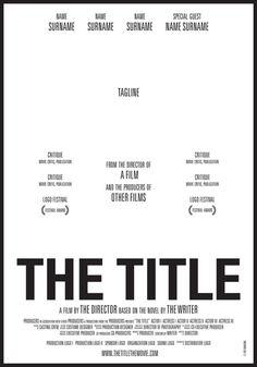 THE TITLE, el cartel de cine que los encierra a todos