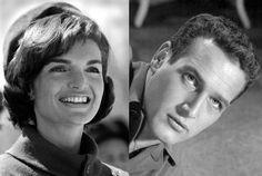 """Jakie Kennedy, exposa del presidente Kennedy, una vez muerto su esposo, se dedicó a """"coleccionar amantes entre los cuales estaba el actor Pawl Newman, el cual según sus palabras siempre fue su debilidad.  De éste dijo: """"La primera vez que fui a la cama con Pawl, me llevé una sorpresa, su pene y el de Jack (JFK) eran tan idénticos, que me sentí penetrada por mi exmarido otra vez."""