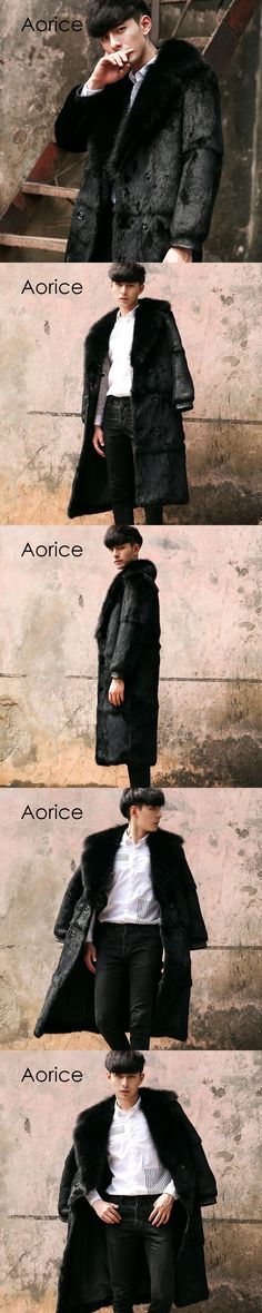 Aorice CR106  new men's fur coat, the real fur coat of the American raccoon fur coat, the real fur coat is comfortable and warm