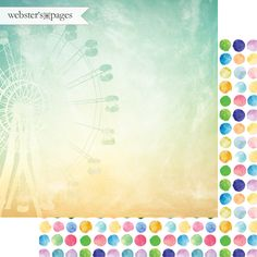 Websters Pages - Dream in Color Collection - 12 x 12 Double Sided Paper - Happy Thoughts at Scrapbook.com