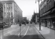 Mitchell Street looking east from Street Milwaukee Wisconsin, Local History, Old Town, Street View, Photographs, Photos, City, Places, Department Store