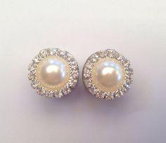 Diamanté Pearl Ear Plugs by TeacupRose on Etsy, $30.00