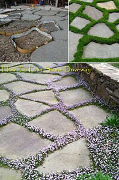 20 Ways Decorating Patio and Garden Floor with Patterns Lareina September 2019 InOutdoor & Garden Make a Lava Stone Driveway using Integral color, float trowel, 14 Garden Cottage, Diy Garden, Garden Projects, Shade Garden, Garden Paths, Garden Table, Cozy Cottage, Indoor Garden, Garden Art