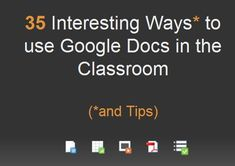 Watch this collaborative slideshow created by Tom Barrett for ideas on using Google Docs in the Classroom