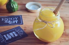 Lemon and Kaffir Lime Curd. Classic Lemon Curd made interesting with a touch of Kaffir Lime. This recipe makes an ultra smooth curd! Kaffir Lime Fruit Recipes, Lime Recipes, Tea Recipes, Recipies, Dessert Recipes, Kaffir Lime Curd, Lemon Curd, Lemon Lime, Lime Cake