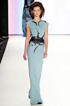 Carolina Herrera, the ultimate designer. Love the blue and black