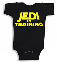 """Cute funny Baby Star Wars """"Jedi In Training"""" infant Onesie - Free Ship!"""