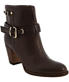 Christian Dior taupe leather 'Equestre' buckle detail ankle boots | BLUEFLY up to 70% off designer brands at bluefly.com