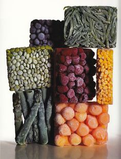 Irving Penn. Patterns created by frozen food