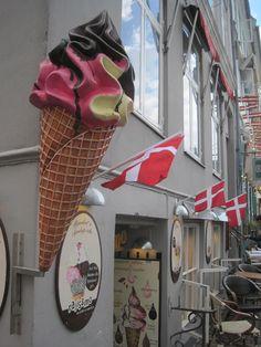 Denmark....best ice cream cones. Kingdom Of Denmark, Danish Christmas, Some Beautiful Images, Danish Food, Fun Signs, Copenhagen Denmark, Great Memories, Norway, Sweden