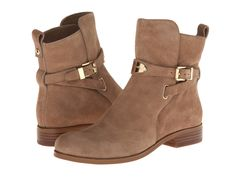 MICHAEL Michael Kors - Arley Ankle Boot  Price: $225  Slip on these ankle boots for instantly stylish ensemble. Smooth leather upper. Adjustable ankle strap with buckle closure. Metal logo plate on front. Plain toe. Pull tab. Fabric lining. Synthetic sole. Imported. Measurements: Heel Height: 1 in