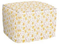 Dickens Ottoman in Decorated Florals, featured on Guildery