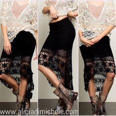 What's trending: Crochet. Get the skirt in two colors black & beige! SEARCH: Shelly Crochet Skirt SHOP: http://ift.tt/1rNgIir WORLDWIDE SHIPPING  CODE: FREESHIP for free domestic shipping