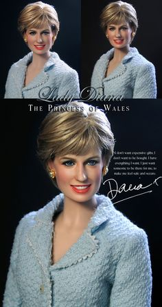 Franklin Mint Princess Di Lady Diana Spencer Doll Repaint by Noel Cruz Fashion Dolls, Celebrity Barbie Dolls, Diva Dolls, Art Dolls, Estilo Real, Lady Diana Spencer, Doll Repaint, Barbie Collection, Barbie World