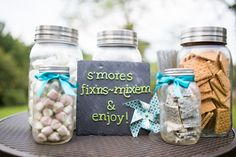 S'mores Fixings for the Fire Pits Photo By Lelia Marie Photography