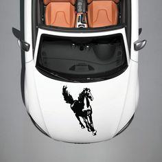 RUNNING HORSE MUSTANG ANIMAL CUTE DESIGN HOOD CAR VINYL STICKER DECALS SV3738