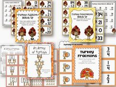 Totally Turkey Math Centers for 2nd Grade