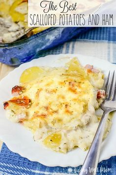 With tasty chunks of ham, sliced potatoes, and a flavorful creamy sauce, this time-tested family recipe for Scalloped Potatoes and Ham is the best!