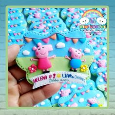 PEPPA & GEORGE 2 IN 1 MAGNET SOUVENIRS FOR 2ND BIRTHDAY & CHRISTENING Birthday Souvenir, Christening, 2nd Birthday, Magnets, Christmas Ornaments, Holiday Decor, Second Anniversary, Xmas Ornaments, Christmas Jewelry