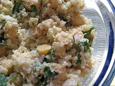 Chickpea and Quinoa Salad with Lemon and Tahini | Lisa's Kitchen | Vegetarian Recipes | Cooking Hints | Food & Nutrition Articles